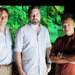 Dr Francisco Estrada-Belli Thomas Garrison y Dr Albert Lin en National Geographic Tesoros Perdidos de los Mayas