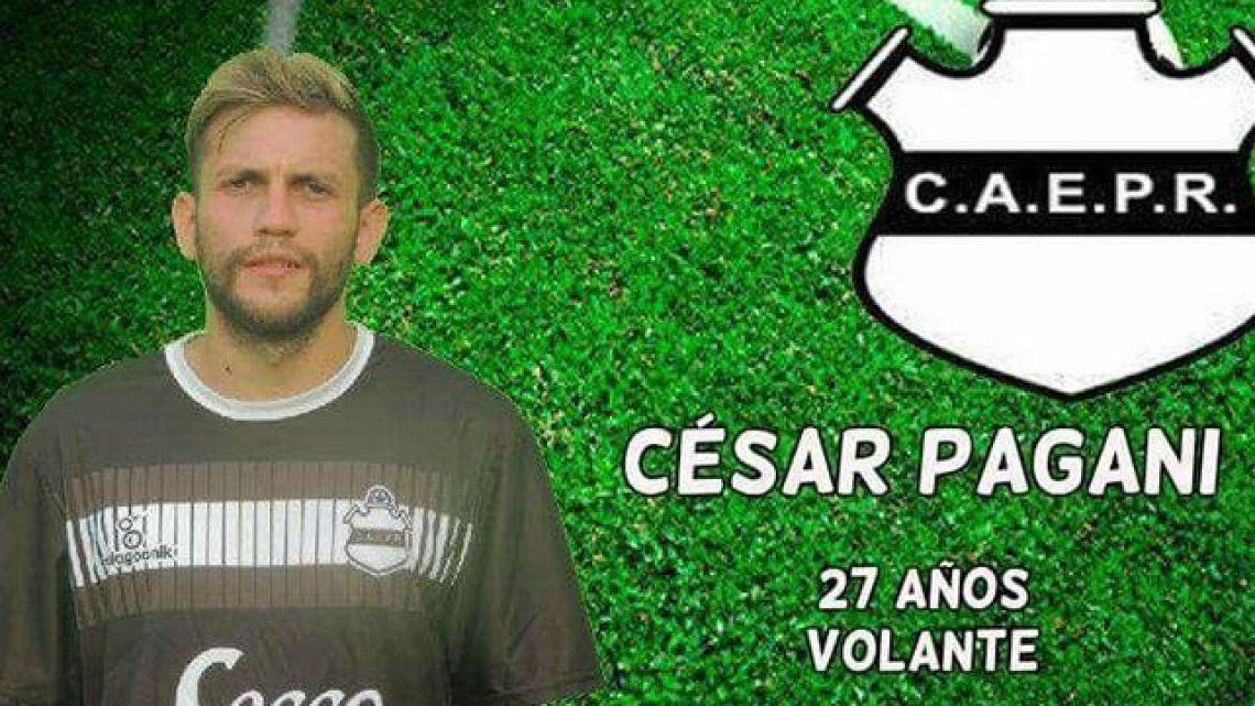 Escuela Presidente Roca player César Pagani.
