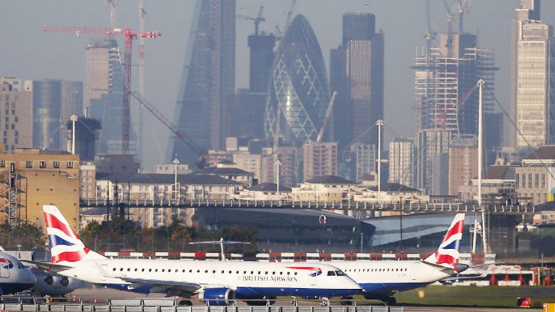 London City Airport was shut down on February 12, 2018 as military experts worked to remove a World War II bomb found in the neighbouring dock.