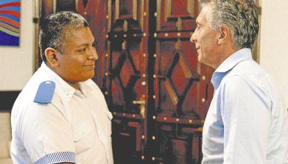 El policía Luis Chocobar, uno de los emblemáticos casos de discusión que recibió el apoyo del presidente Mauricio Macri.
