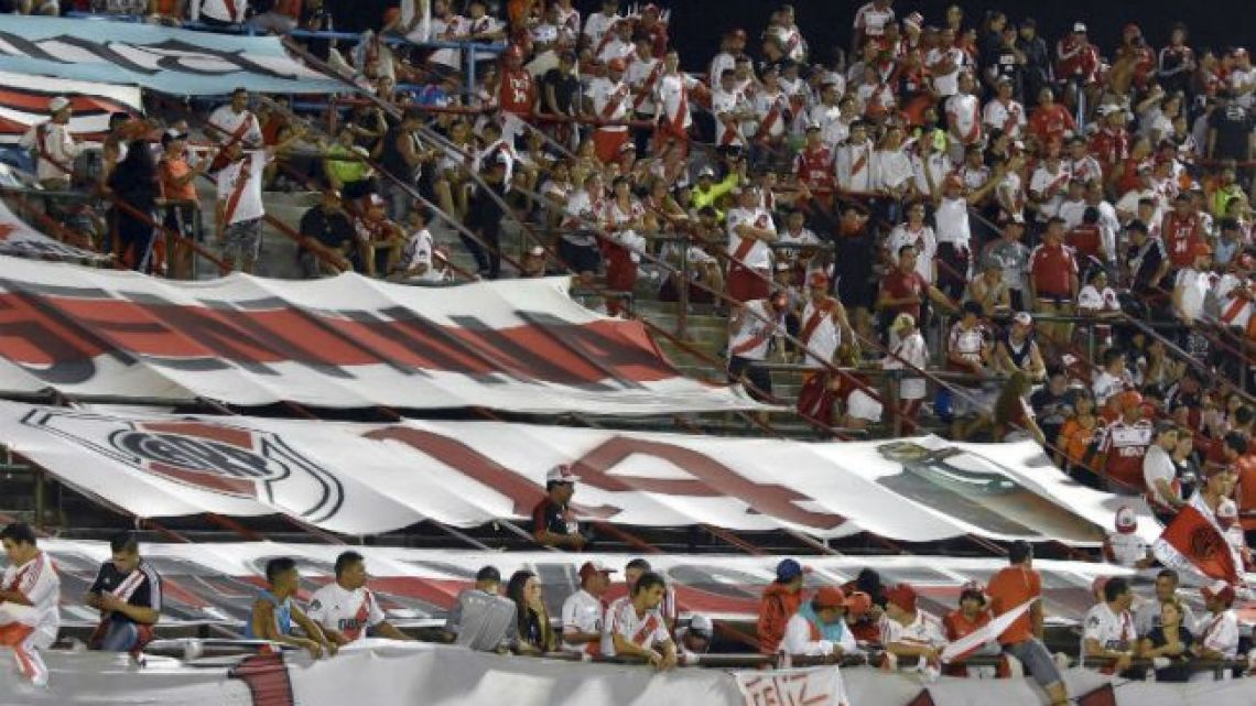 River Plate fans in the stands.