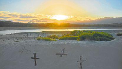 Seco. Uno de los reservorios que abastecen a la ciudad, con niveles mínimos e insuficientes.