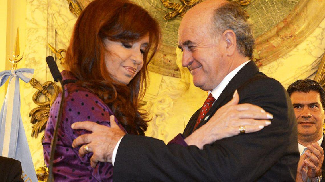 Former president-cum-Senator Cristina Fernández de Kirchner and former Intelligence chief Oscar Parrilli.