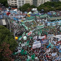 Tens of thousands of people protested against the government's austerity measures in the capital. Some estimates put the crowd at close to 150,000.