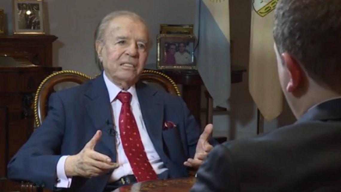Former president Carlos Menem.