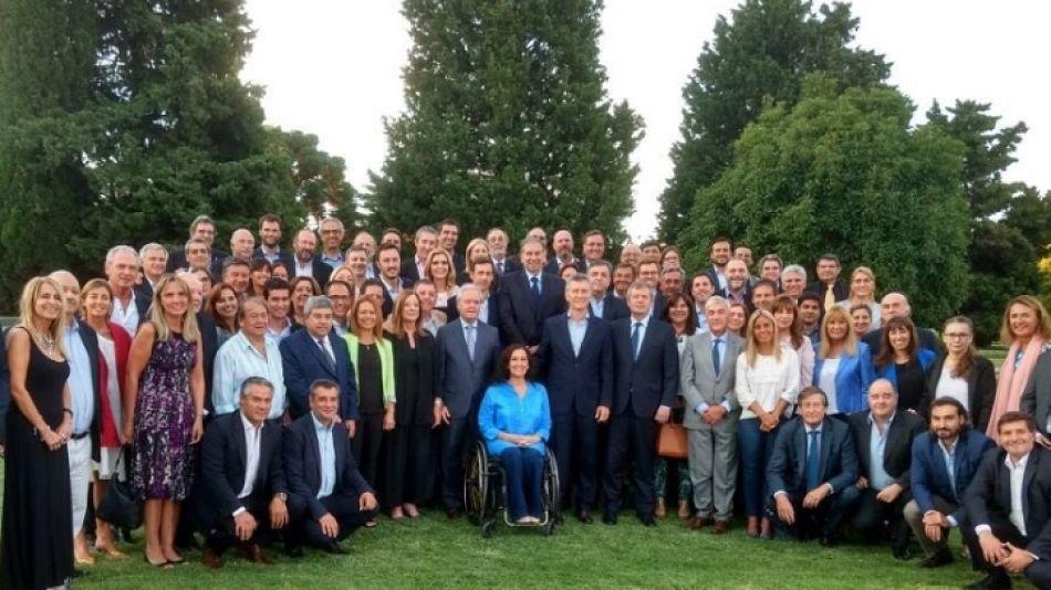 Macri con los legisladores