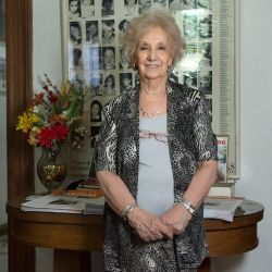 Estela de Carlotto, the president of the Grandmothers of Plaza de Mayo.