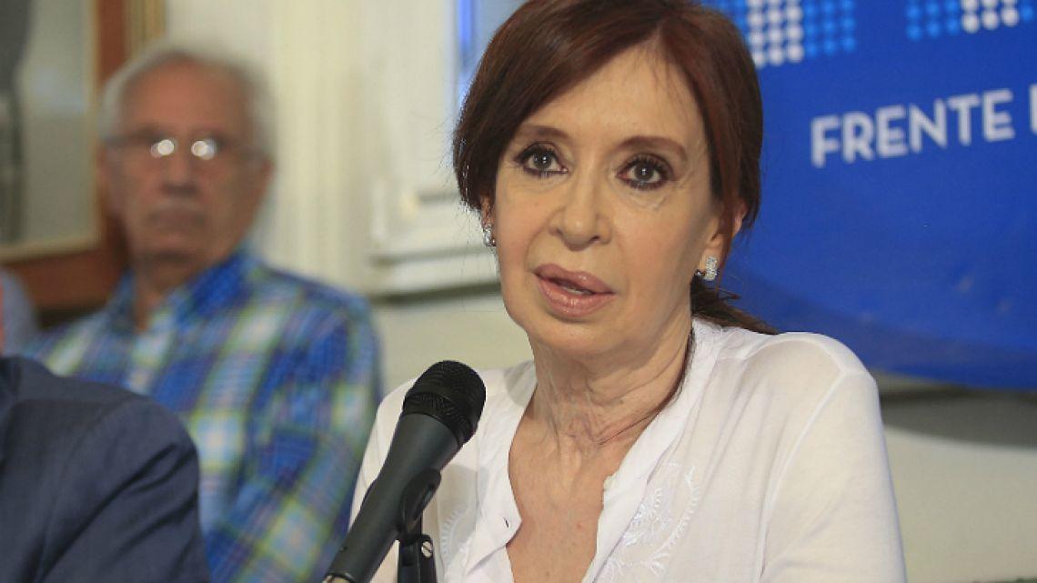 Former president and now Senator Cristina Fernández de Kirchner.