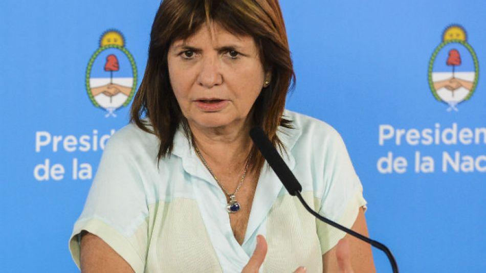 """La ministra de Seguridad, Patricia Bullrich, dijo que el Gobierno """"respalda a la Policía por su accionar"""""""