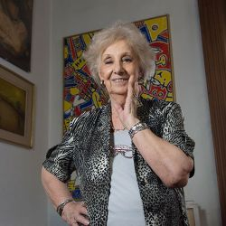 Estela de Carlotto, head of the Grandmothers of Plaza de Mayo.