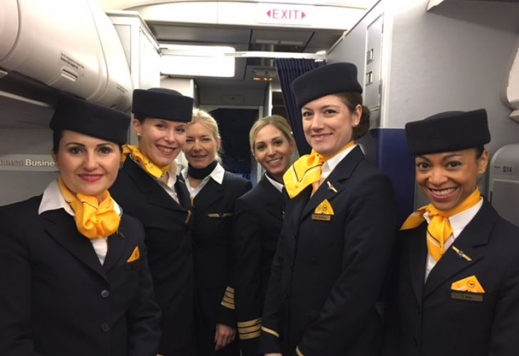 Lufthansa en el dia de la mujer