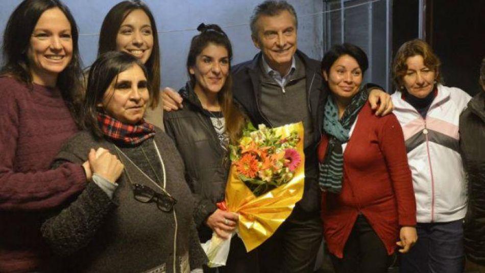 Macri con mujeres_20180309
