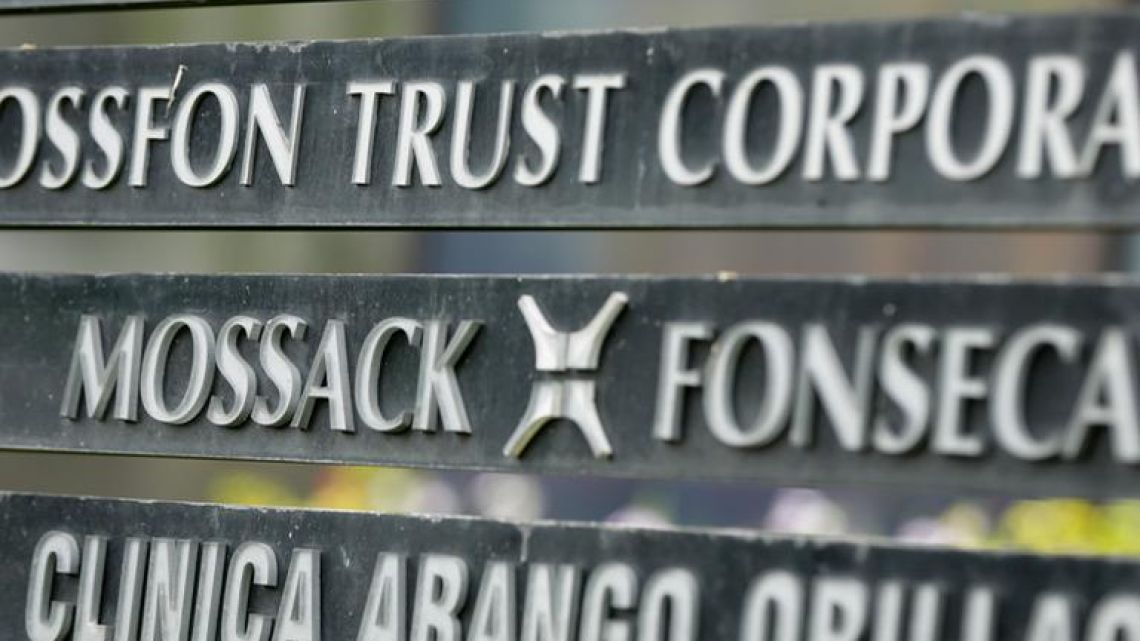 A marquee of the Arango Orillac Building lists the Mossack-Fonseca law firm, in Panama City. The firm announced on Wednesday that it will cease operations by the end of the month.