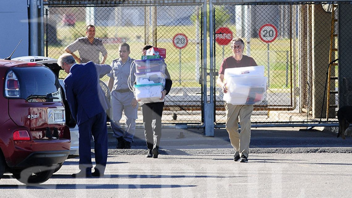 Cristobal Lopez walks out of Ezeiza Prison in Buenos Aires