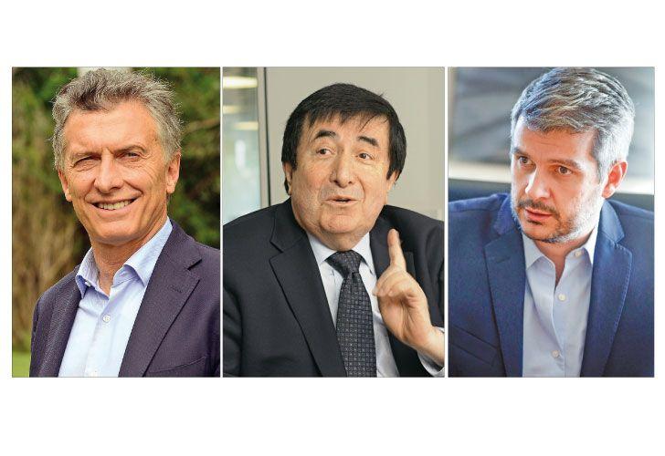 """Macri, Duran Barba y Peña, los padres del modelo al que eligieron llamar """"gradualismo""""."""
