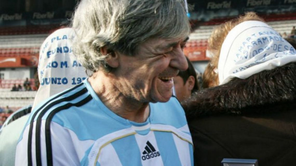 René Houseman, member of the 1978 World Cup-winning Argentina squad.