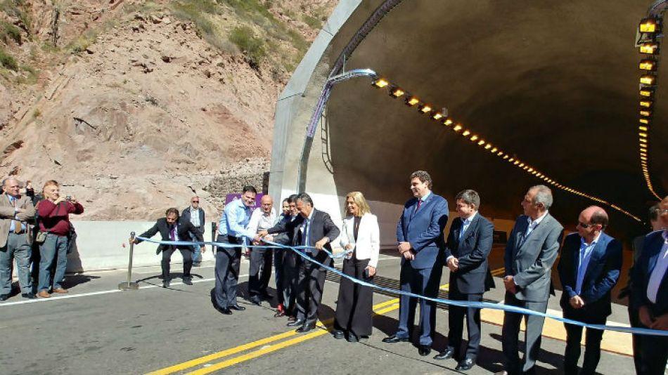 Ayer inauguraron el túnel Cacheuta-Potrerillos.