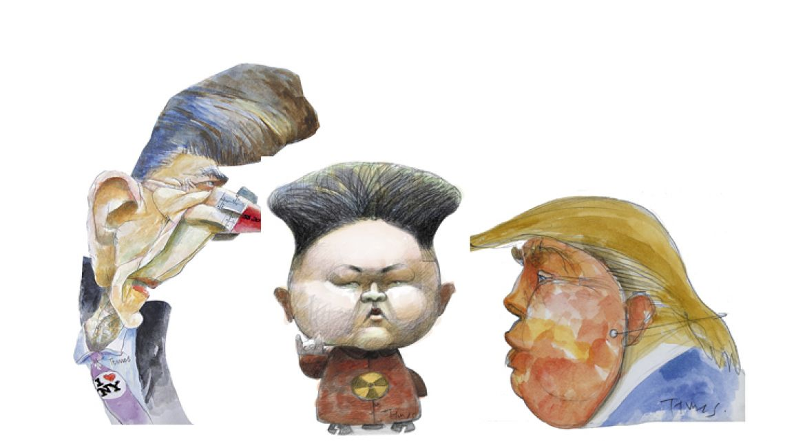 Reagan, Kim Jong-un and Trump.