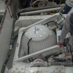 Seakeeper-Gyro-installation-in-a-77-Hatteras-yacht