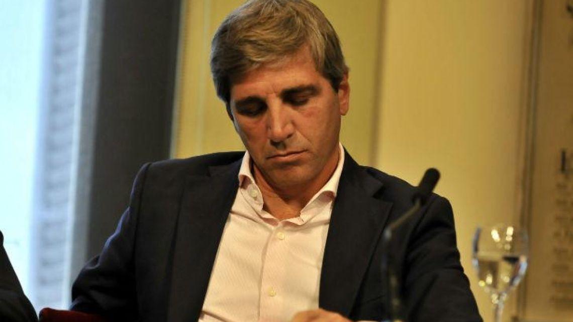 Finance Minister Luis Caputo.