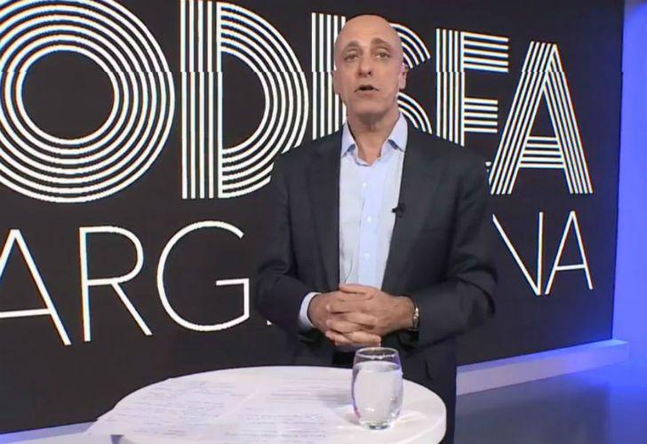 Carlos Pagni en su programa Odisea Argentina, que emite la señal La Nación +.