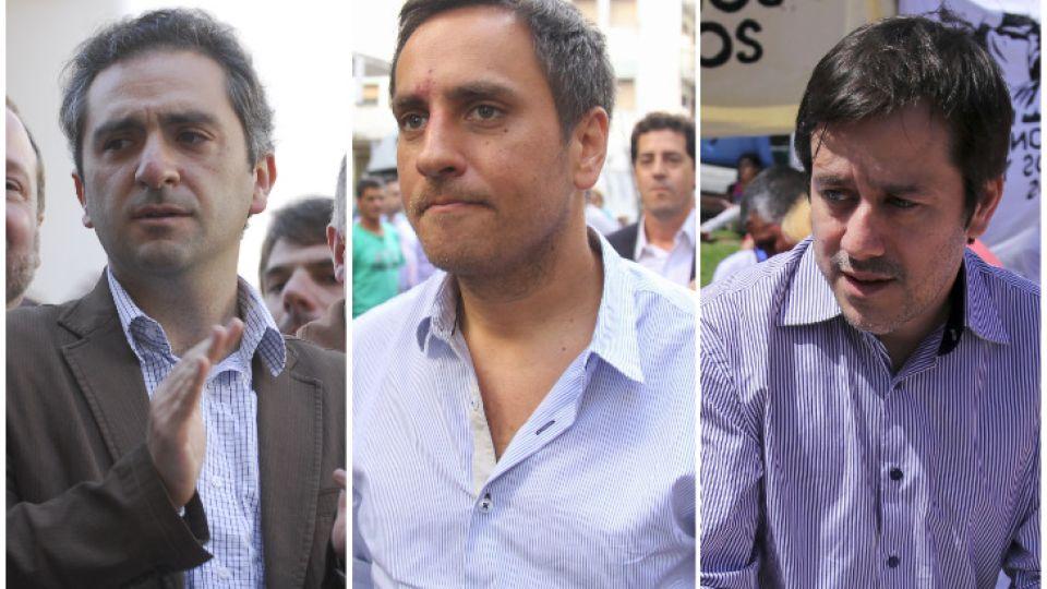 """Andrés """"cuervo"""" Larroque/Juan Cabandié/Mariano Recalde"""