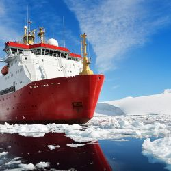The HMS Protector.