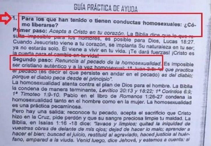 Dios prohibe el homosexualismo