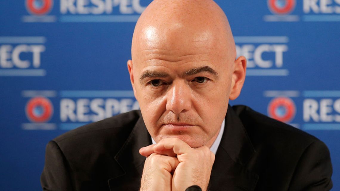 FIFA chief Gianni Infantino.
