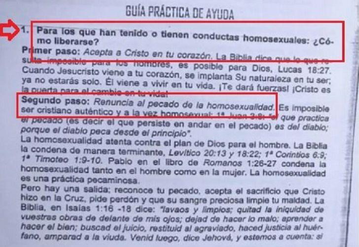 Polémica En Paraná Una Escuela Cristiana Repartió Una Guía