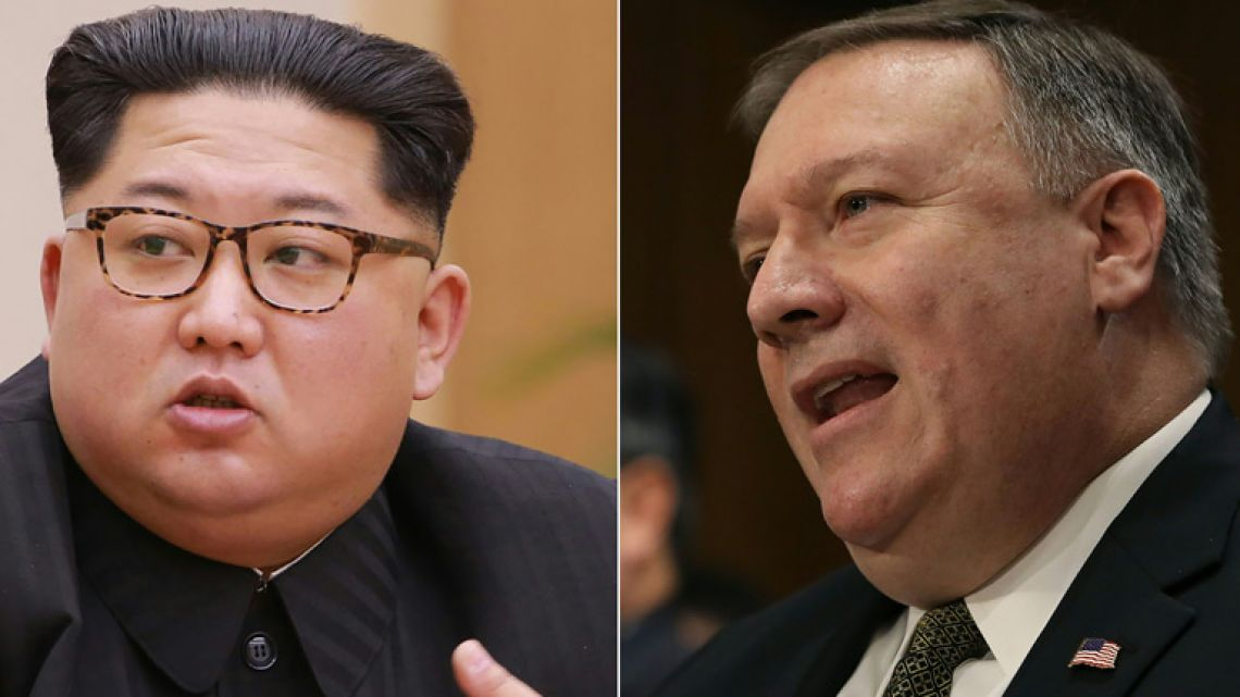 Composite photo: North Korean leader Kim Jong-un and Mike Pompeo, US President Donald Trump's CIA chief and nominee for secretary of state.