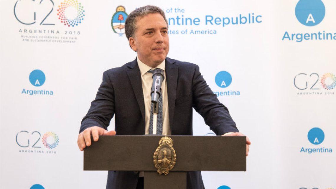 Treasury Minister Nicolás Dujovne.
