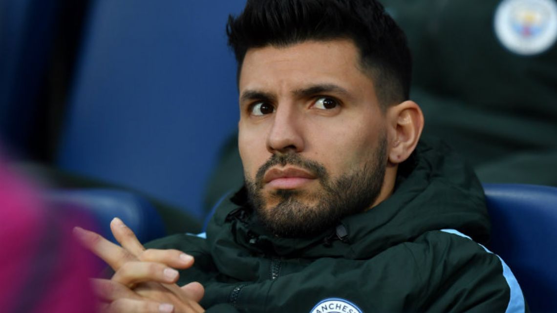 Manchester City and Argentina striker Sergio Agüero.