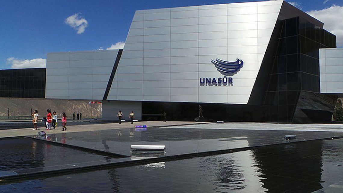 UNASUR headquarters, the Néstor Kirchner building, in Quito.