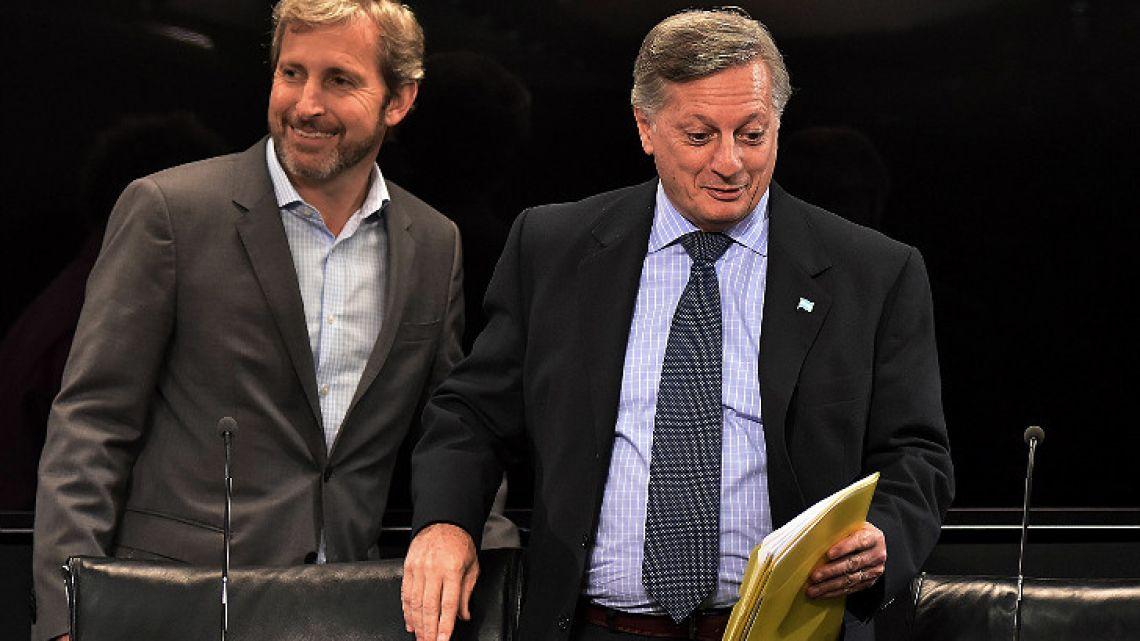 Interior Minister Rogelio Frigerio and Energy Minister Juan José Aranguren.
