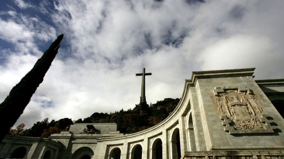 "The basilica of the Valle de los Caidos (""The Valley of the Fallen""), a monument to the Francoist combatants who died during the Spanish civil war and Franco's final resting place just outside Madrid."