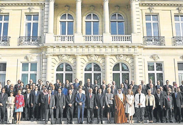 Juntos. Todos los participantes de un encuentro internacional muy importante.