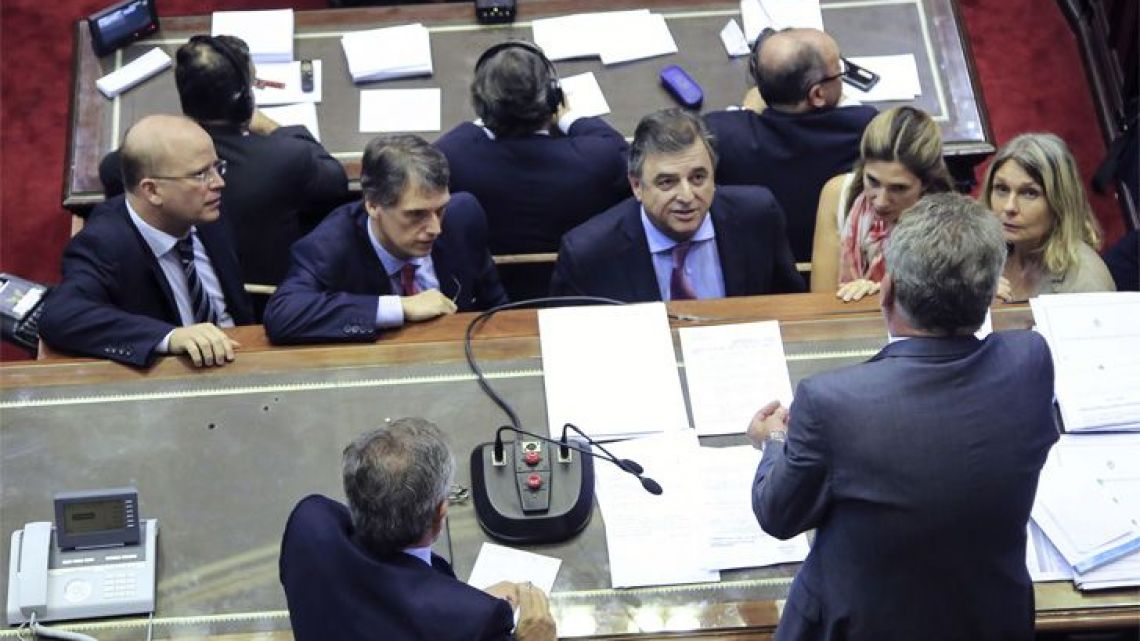 Debate of deputies in the congress