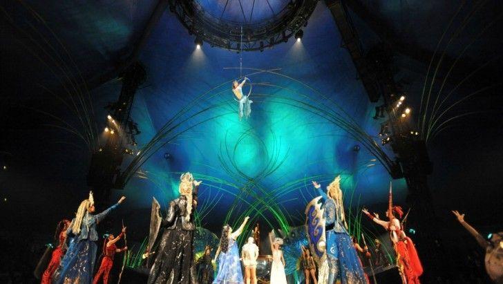 Amaluna. Libremente basado en la Tempestad de Shakespeare, es el octavo espectáculo de la compañía