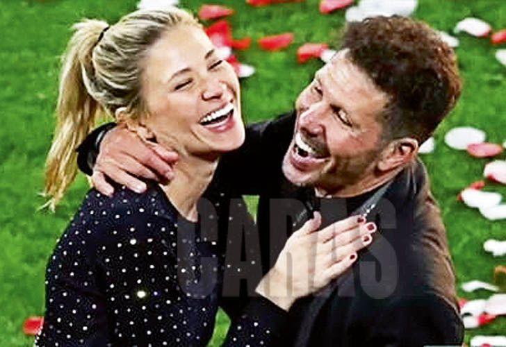 Diego Simeone y Carla Pereyra