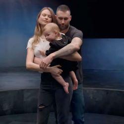 Behati Prinsloo-Dusty Rose-Adam Levine