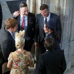 David y Victoria Beckham, Sir Elton John, David Furnish, Sofia Wellesley y James Blunt.