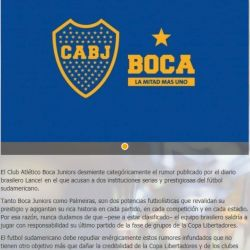 Comunicado Boca