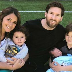 Leo Messi y su familia.