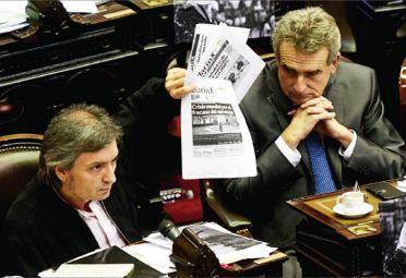 Agustín Rossi y Máximo Kirchner