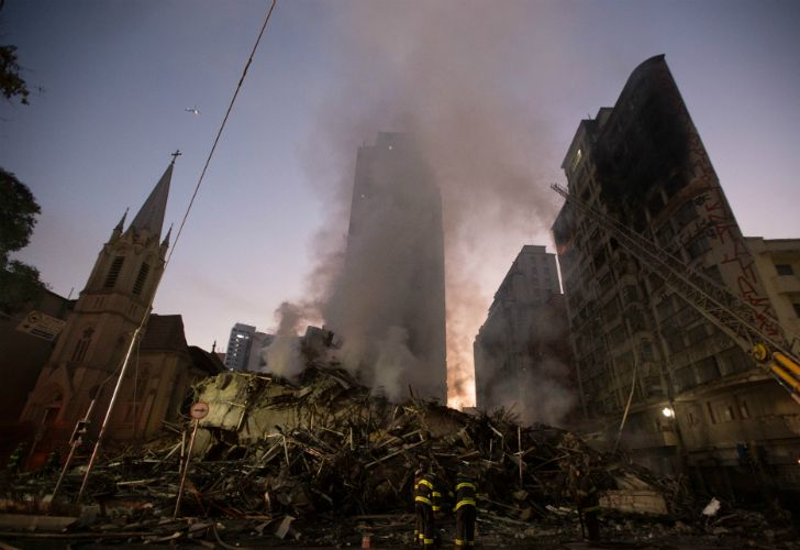 incendio derrumbe edificios Sao Paulo 20180502