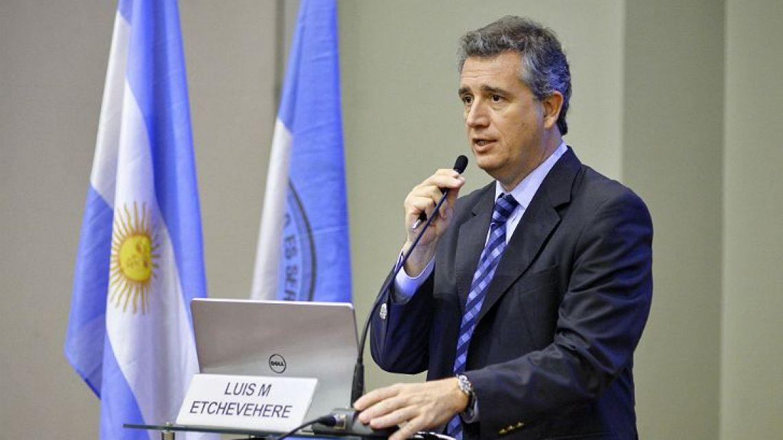 Agriculture Minister Luis Miguel Etchevehere.