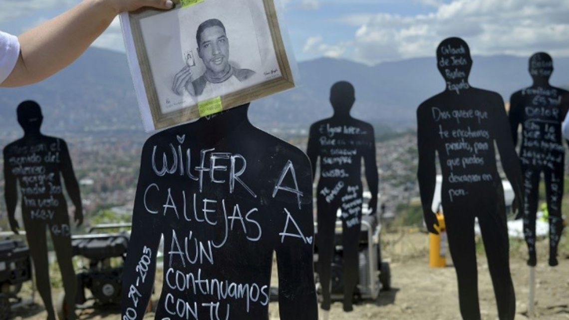 Colombian officials say an estimated 83,000 people disappeared during the country's decades-long civil war.