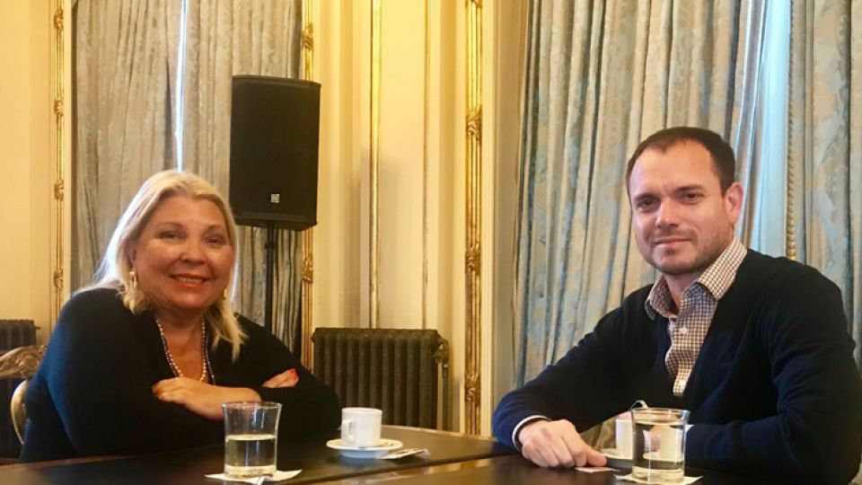 Elisa Carrió se reunió con Fernando Sánchez