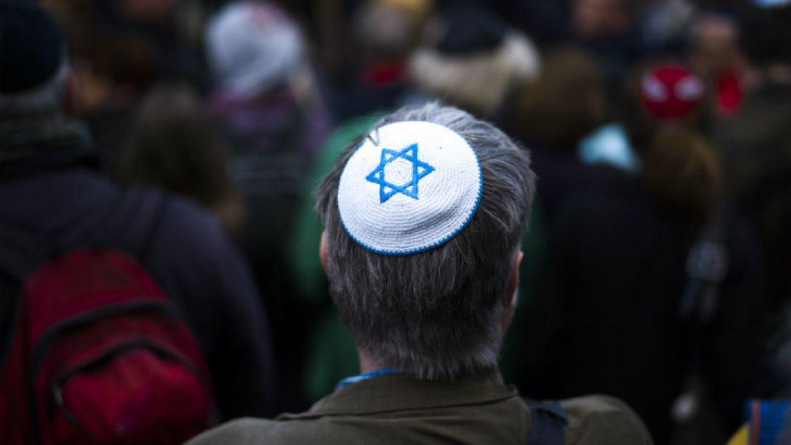 Jewish kipa with the star of David
